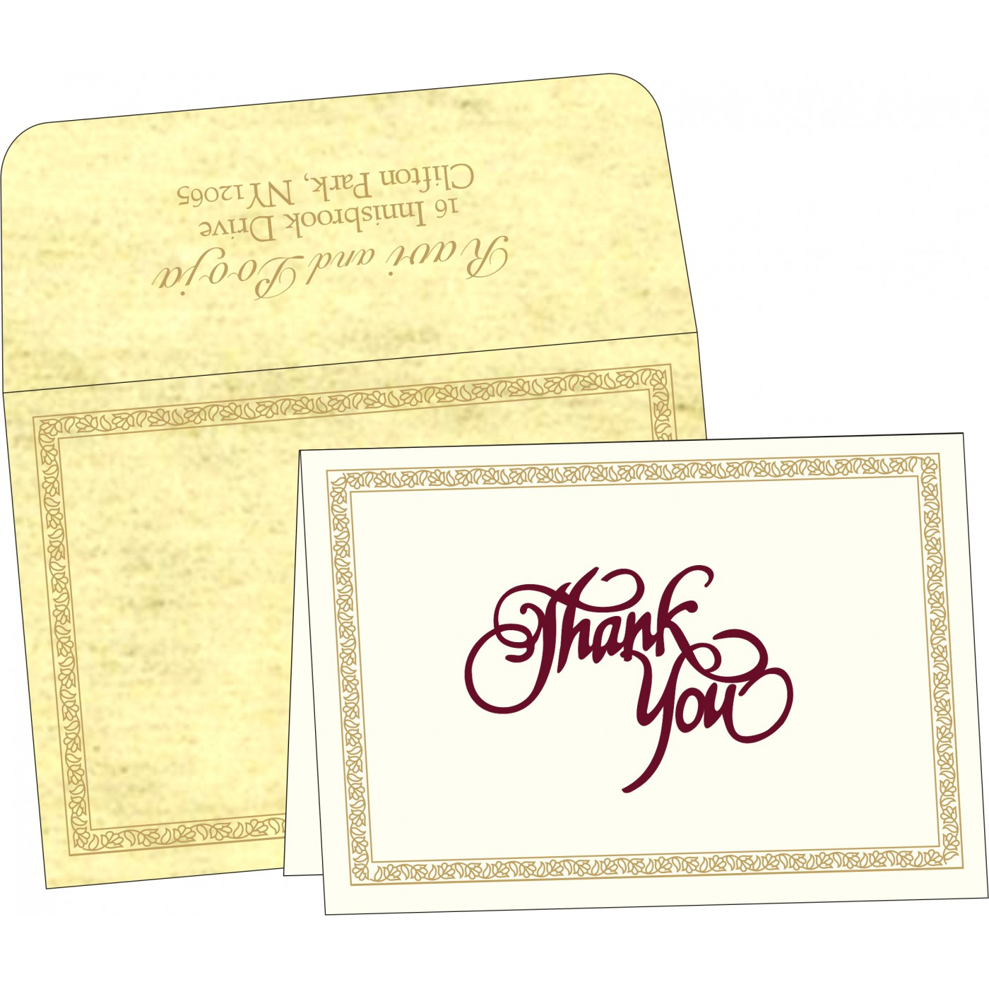 Thank You Cards : CTYC-8211K - IndianWeddingCards