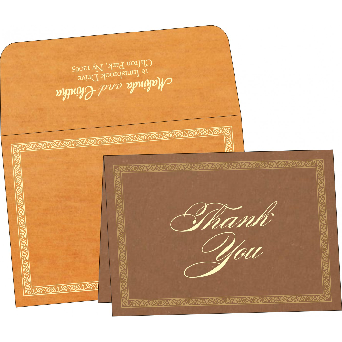 Thank You Cards : CTYC-8211L - IndianWeddingCards