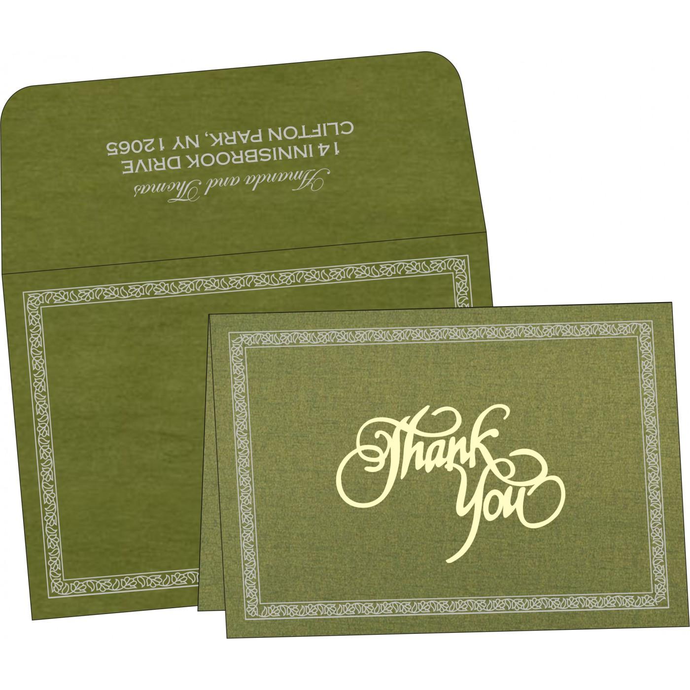 Thank You Cards : CTYC-8211M - IndianWeddingCards