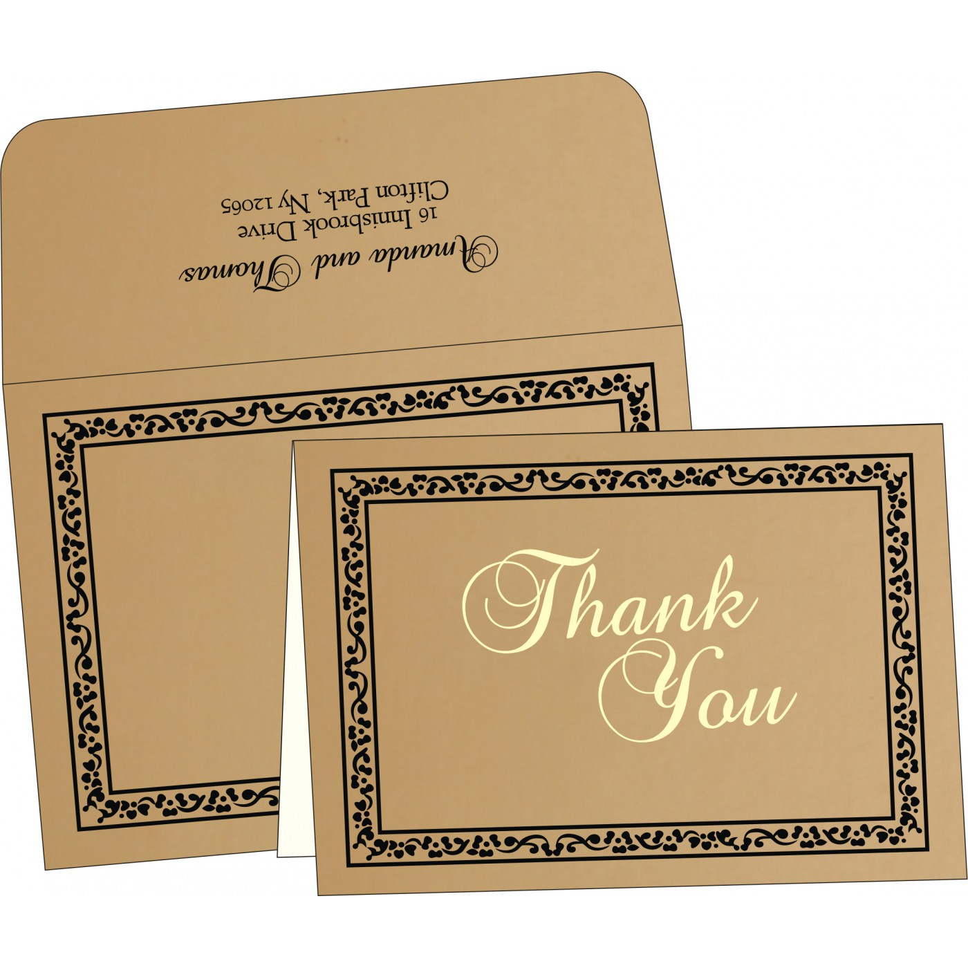 Thank You Cards : CTYC-8214D - IndianWeddingCards