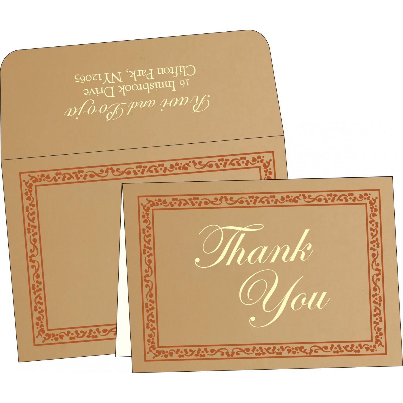 Thank You Cards : CTYC-8214E - IndianWeddingCards