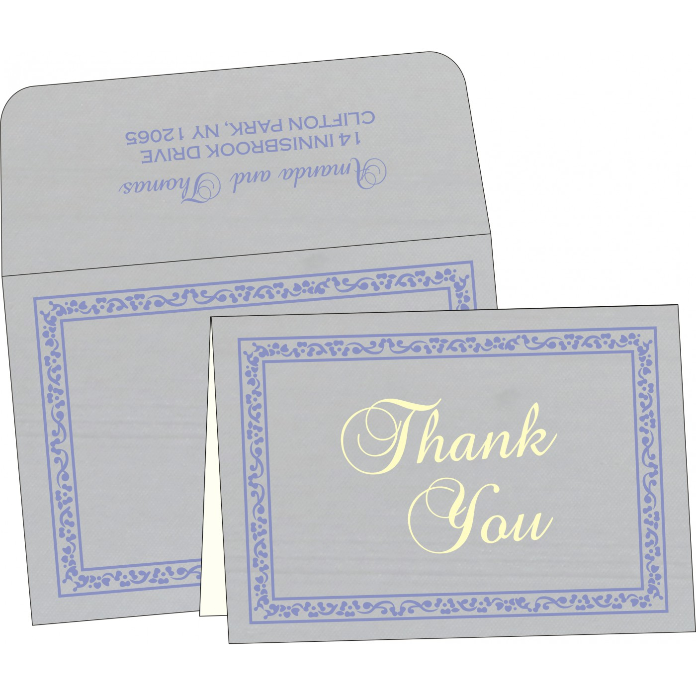 Thank You Cards : CTYC-8214O - IndianWeddingCards