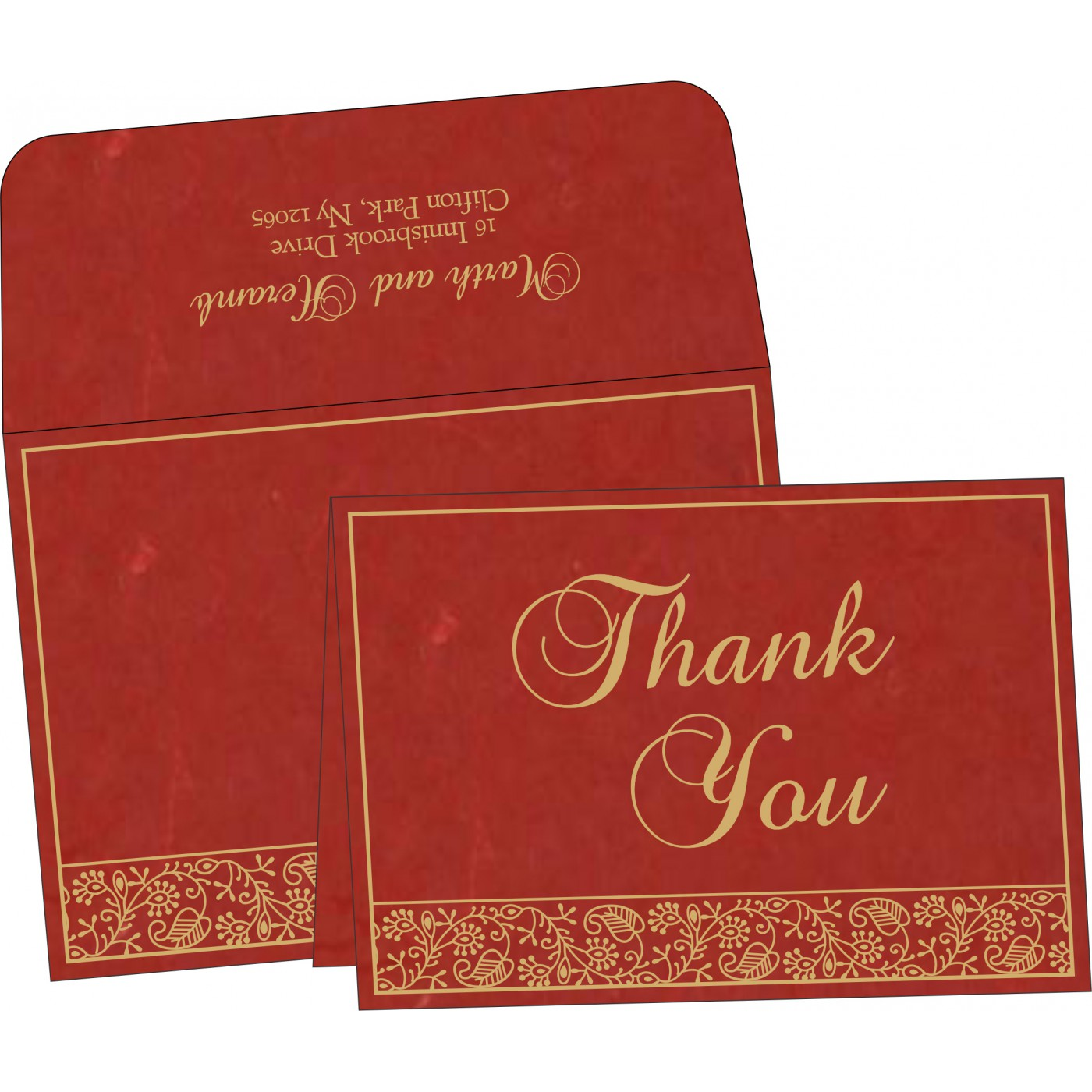 Thank You Cards : TYC-8215C