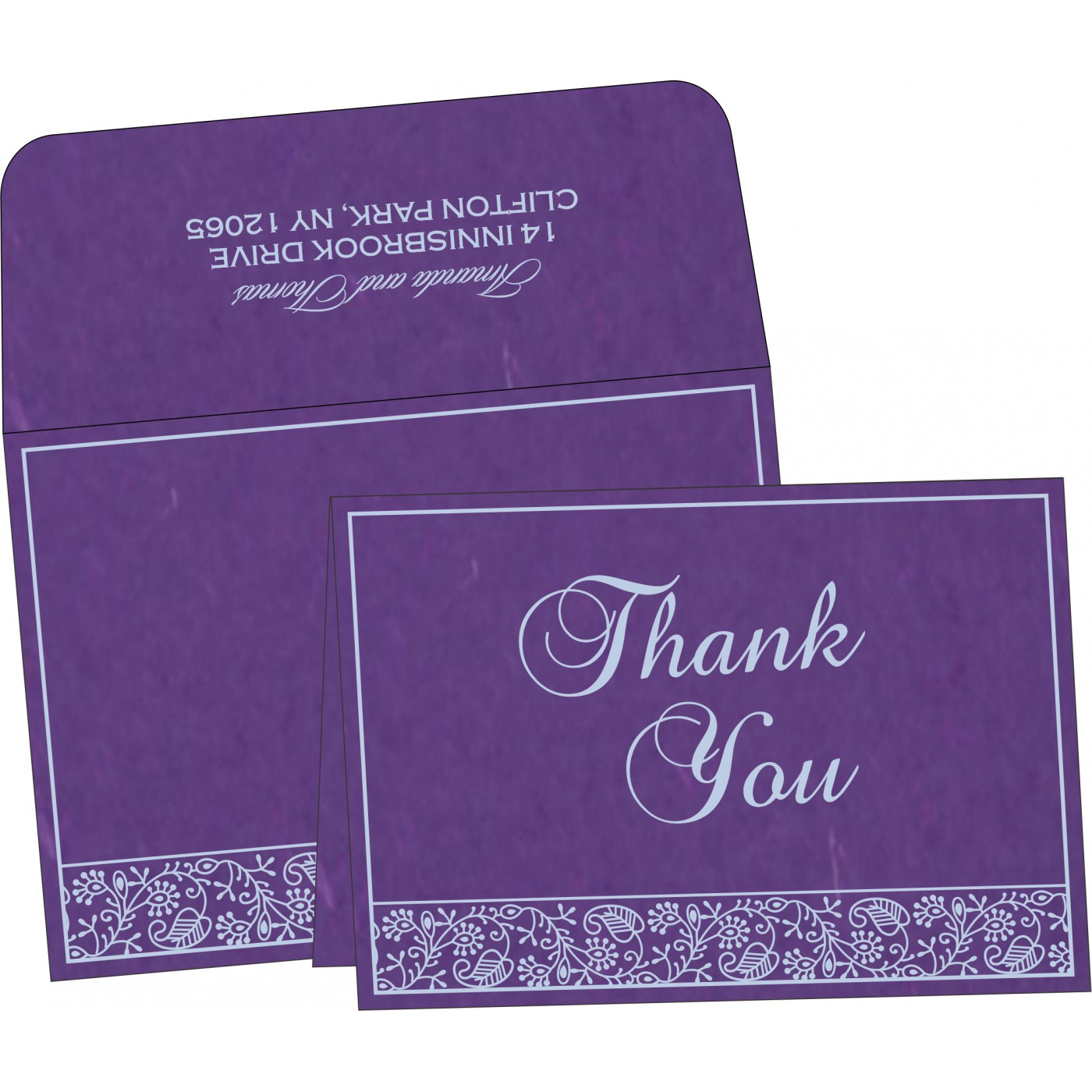 Thank You Cards : CTYC-8215G - IndianWeddingCards