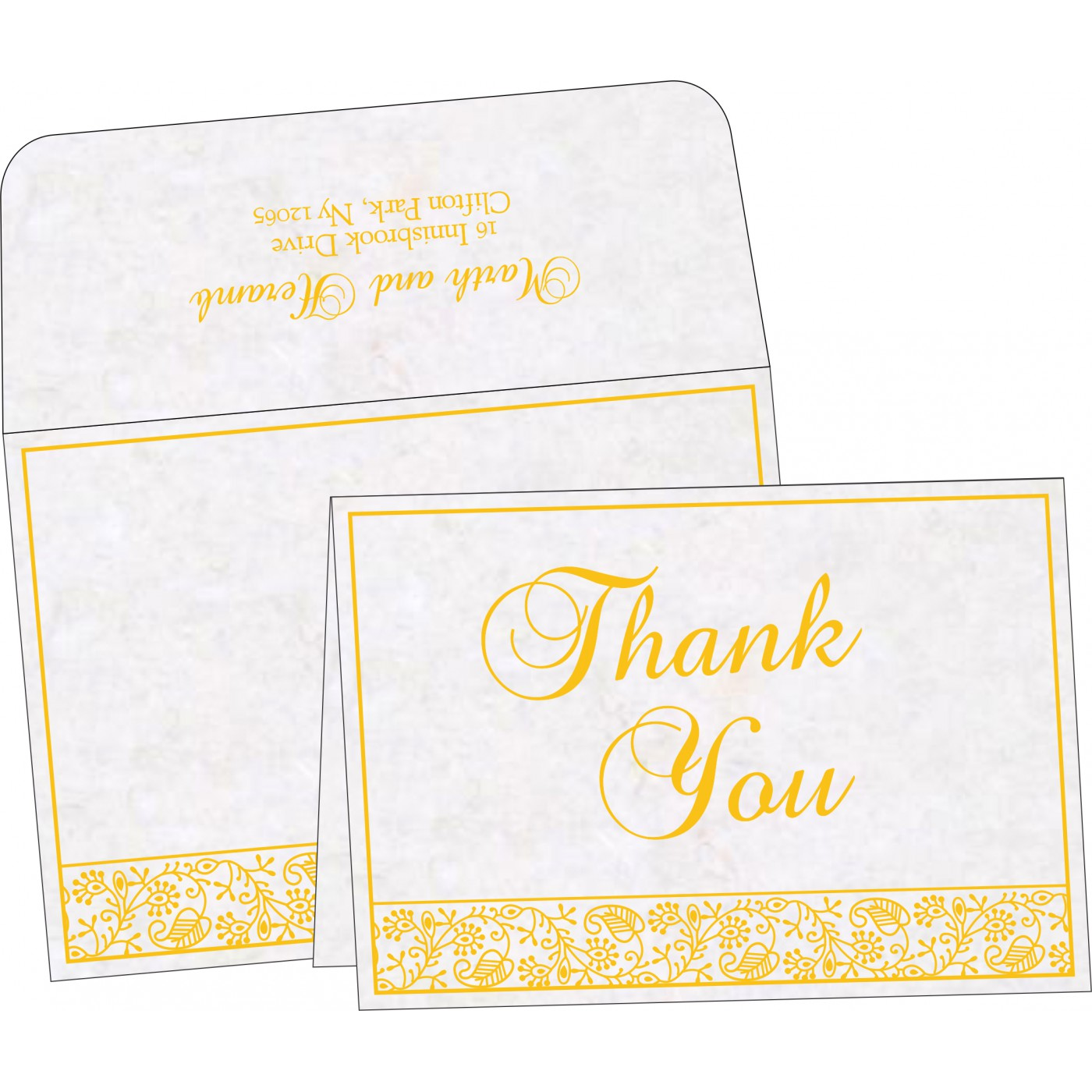 Thank You Cards : CTYC-8215H - IndianWeddingCards