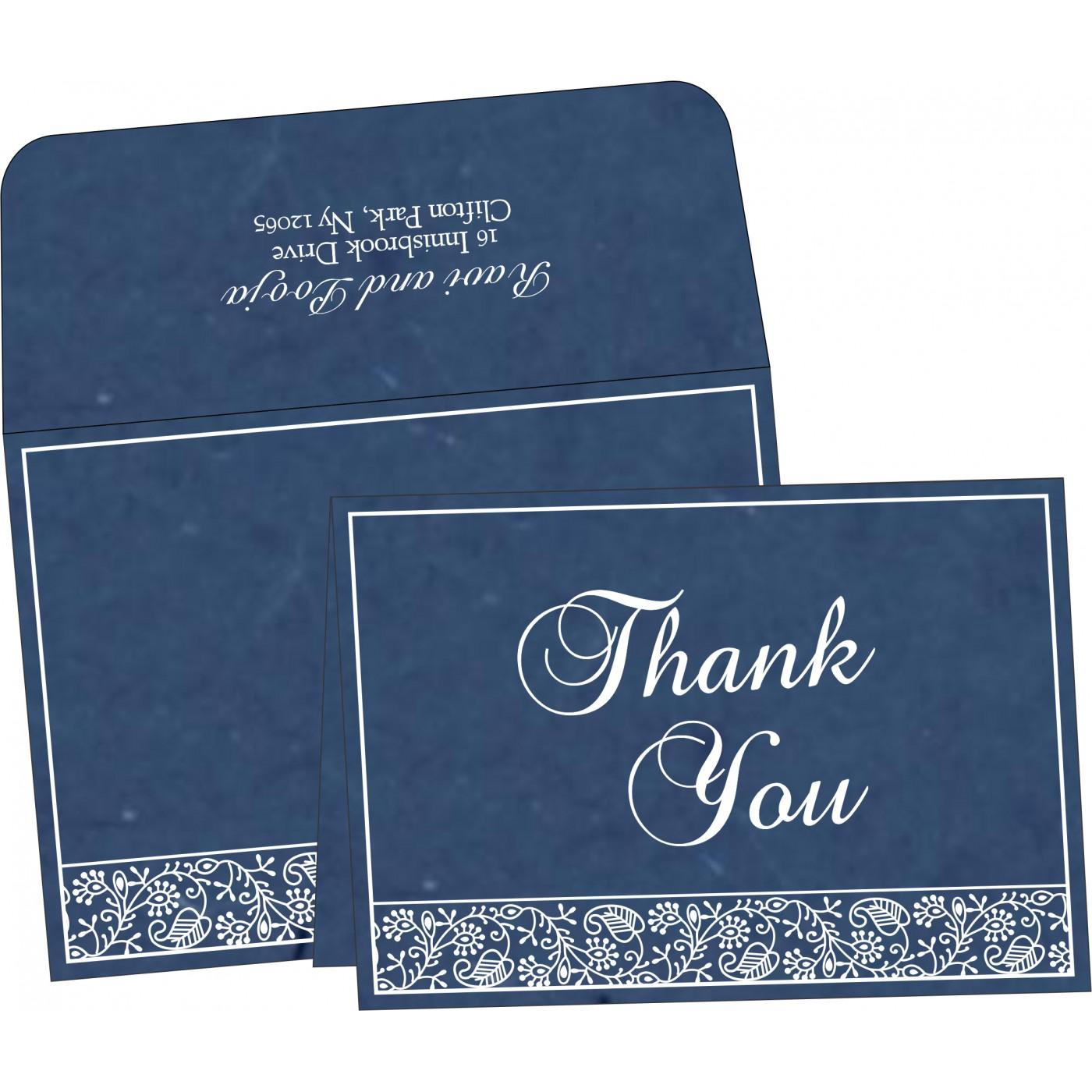 Thank You Cards : CTYC-8215I - IndianWeddingCards