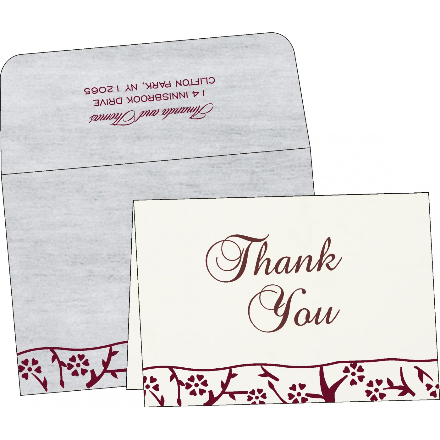 Thank You Cards : CTYC-8216B - IndianWeddingCards