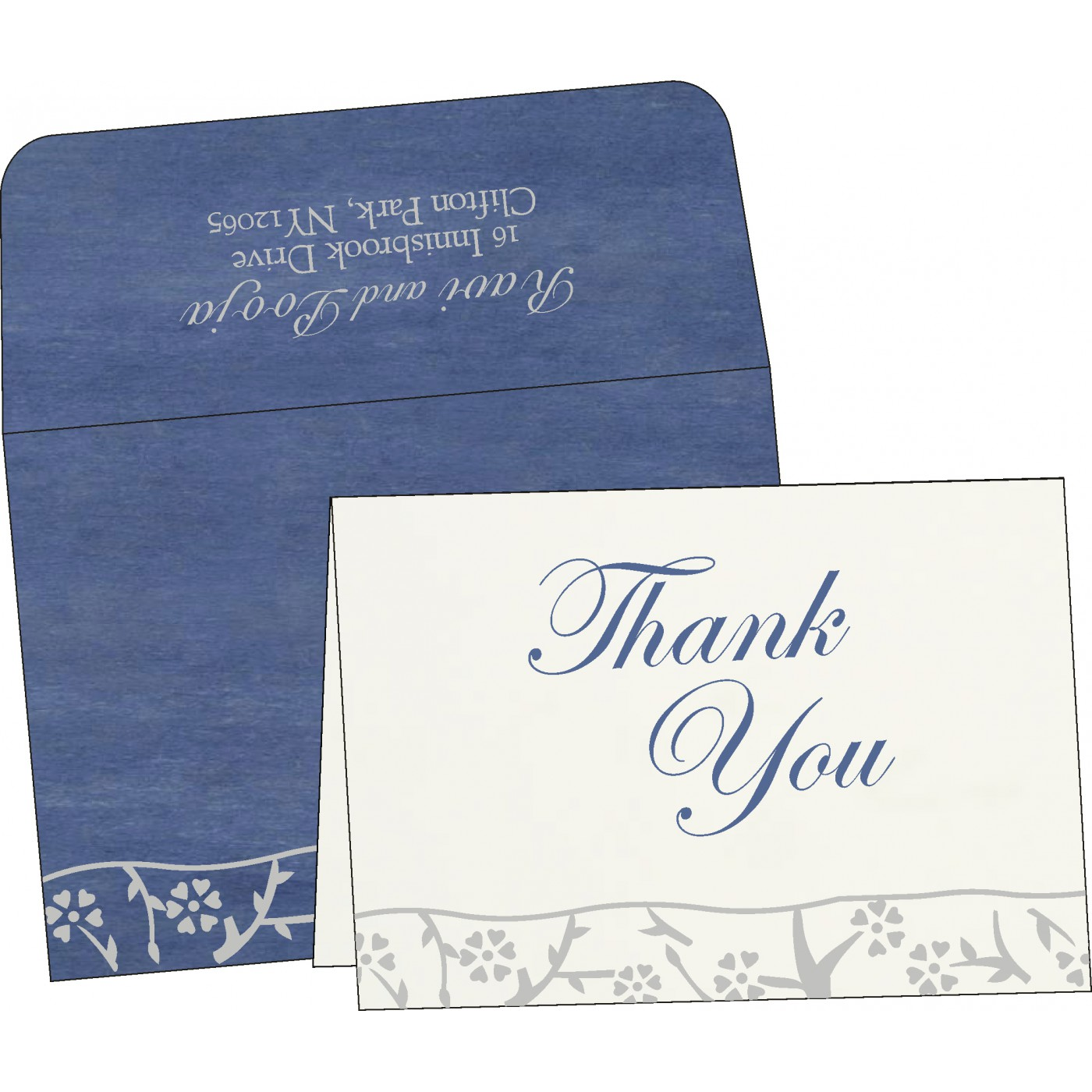 Thank You Cards : CTYC-8216D - IndianWeddingCards