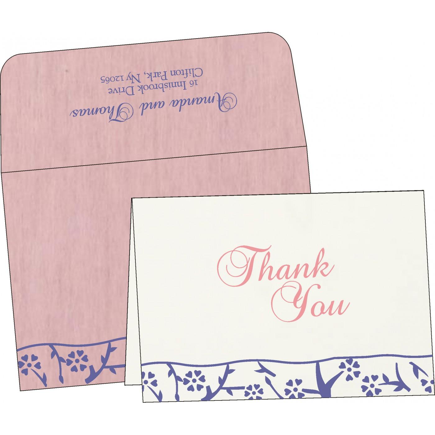 Thank You Cards : CTYC-8216I - IndianWeddingCards