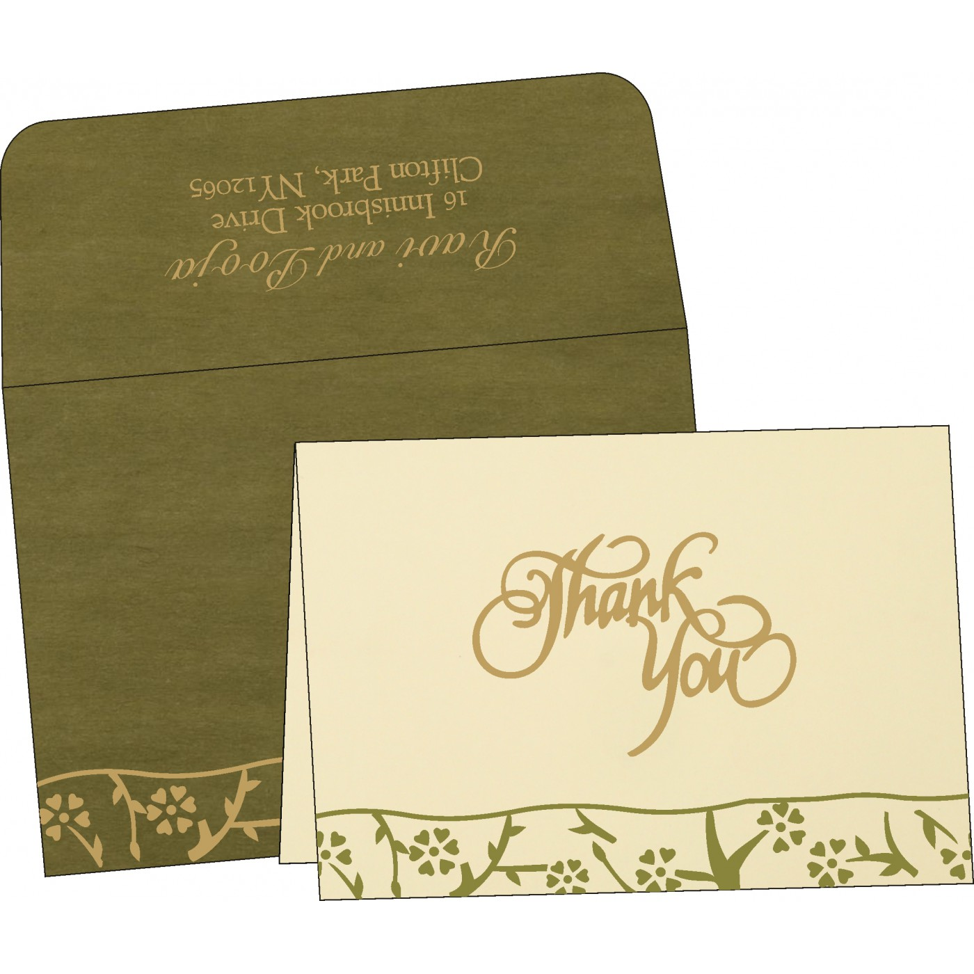 Thank You Cards : CTYC-8216J - IndianWeddingCards