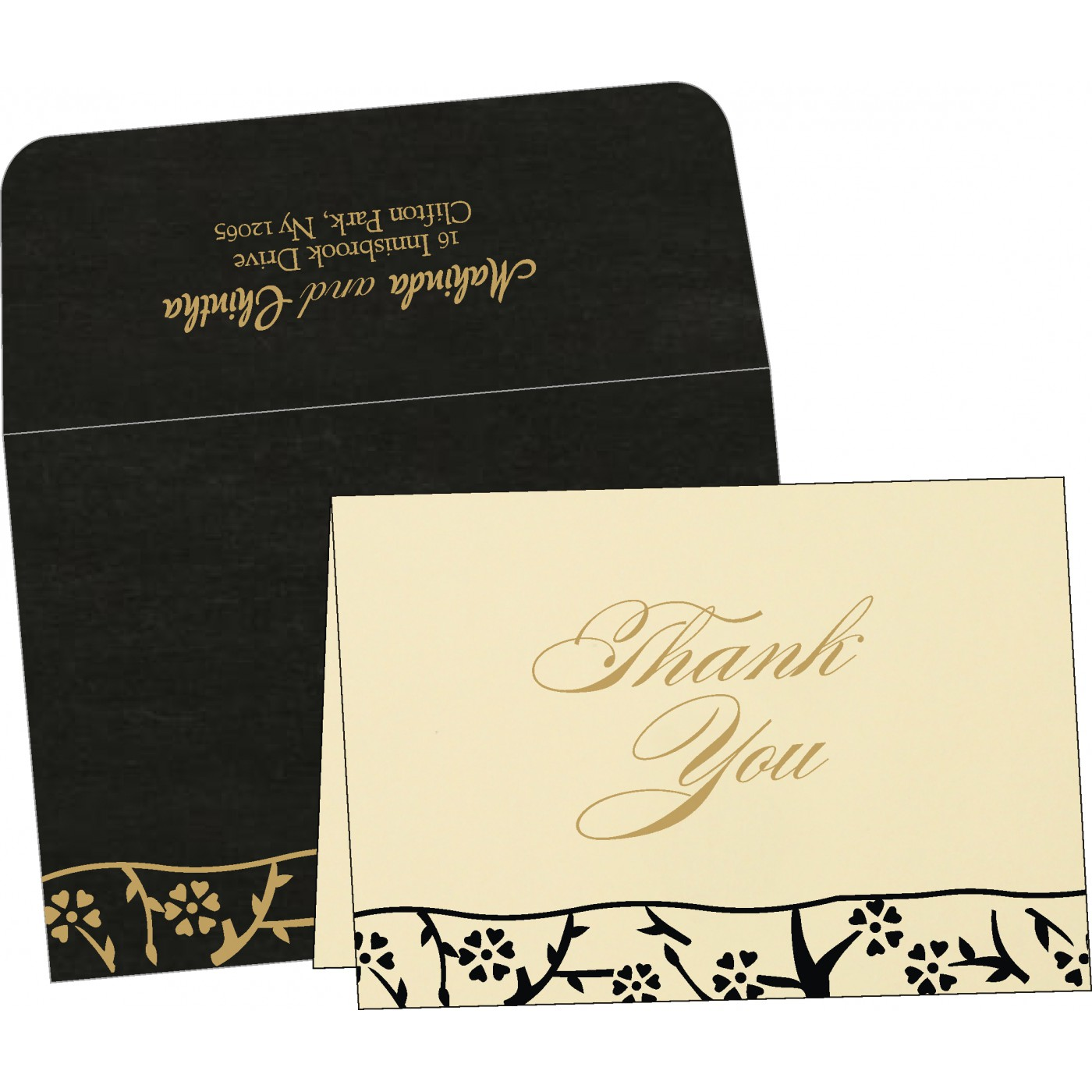 Thank You Cards : CTYC-8216K - IndianWeddingCards