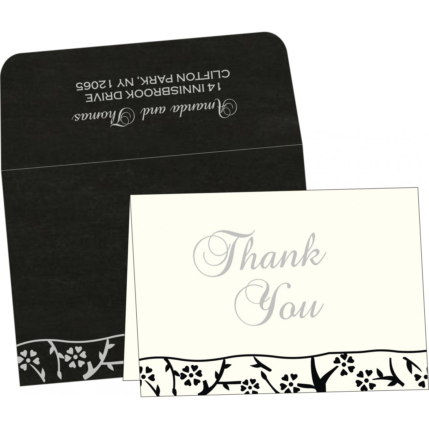 Thank You Cards : CTYC-8216N - IndianWeddingCards