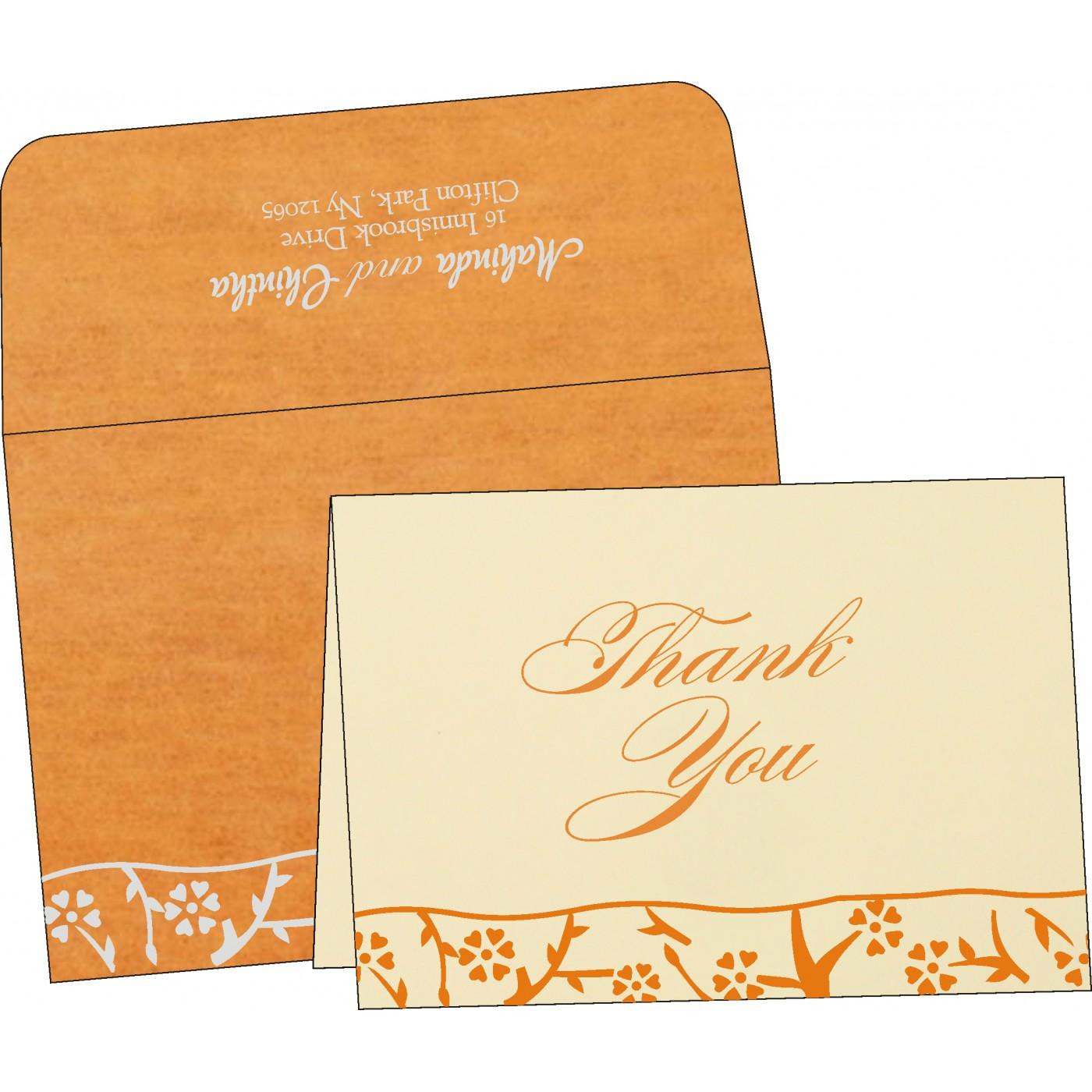 Thank You Cards : CTYC-8216O - IndianWeddingCards