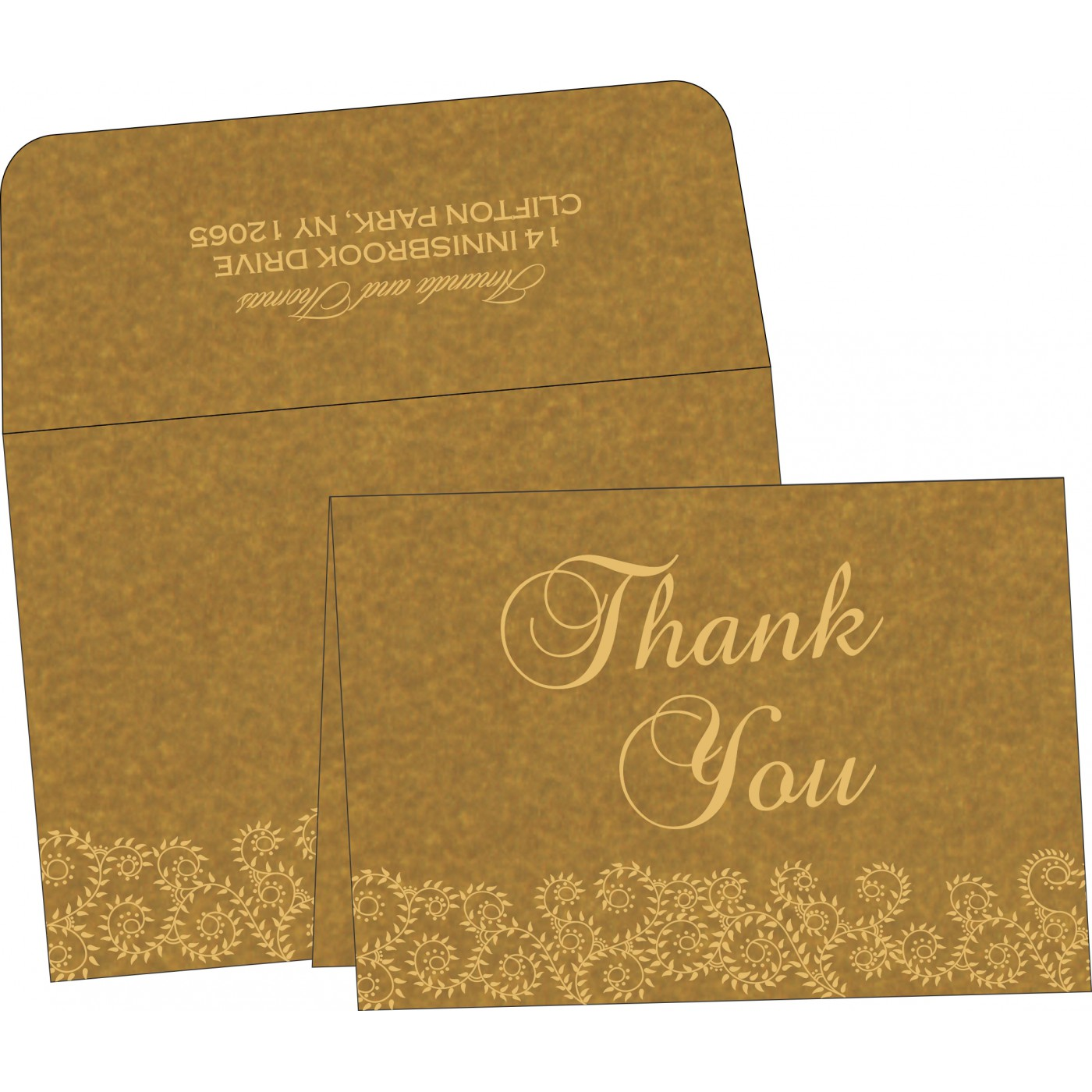 Thank You Cards : CTYC-8217C - IndianWeddingCards