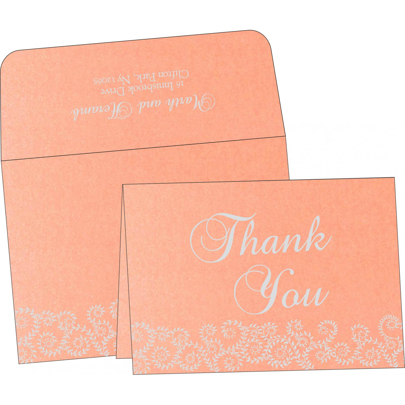Thank You Cards : CTYC-8217E - IndianWeddingCards