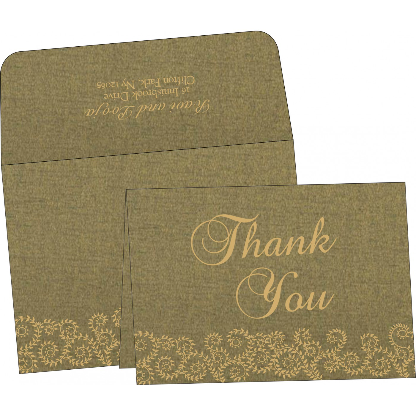 Thank You Cards : CTYC-8217H - IndianWeddingCards