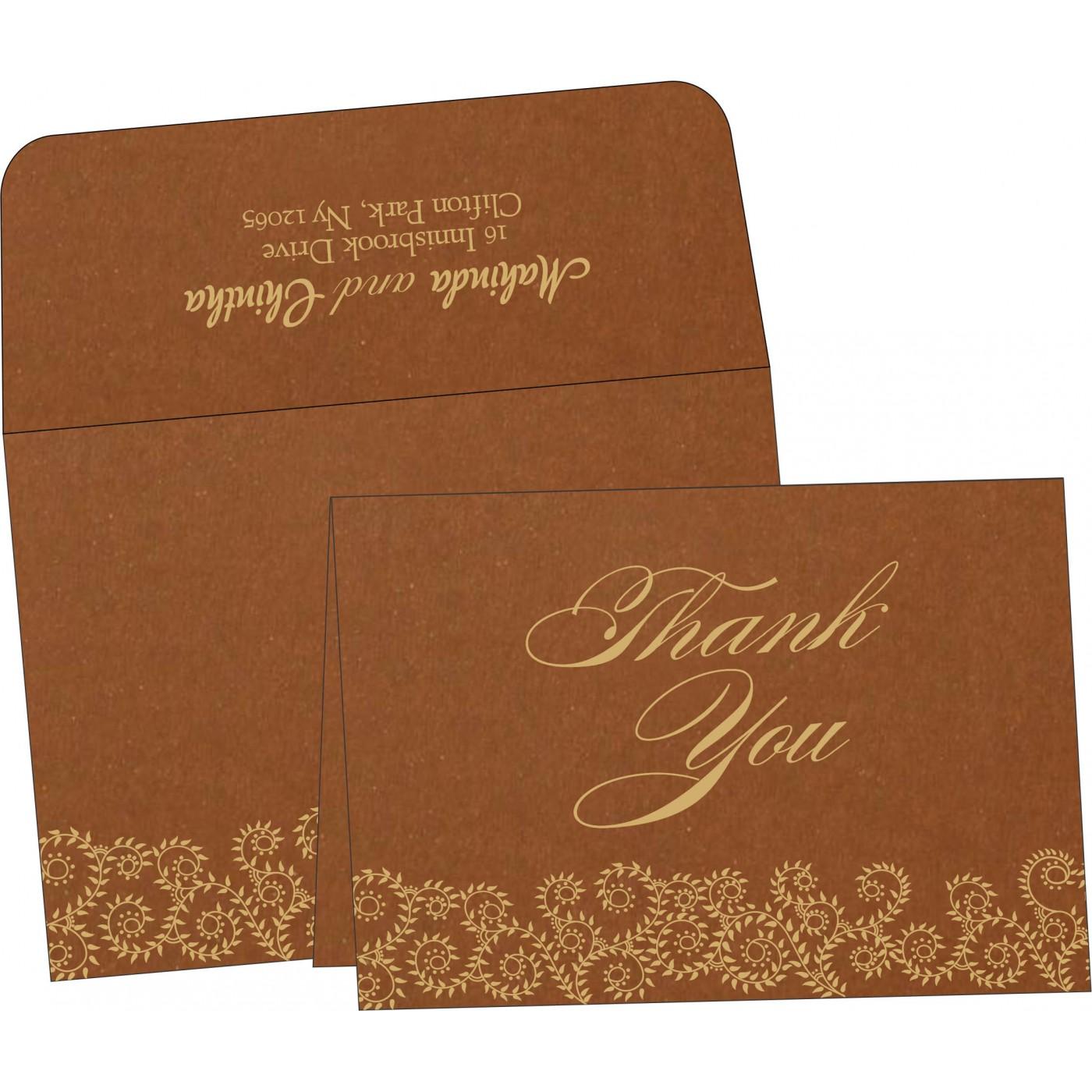 Thank You Cards : CTYC-8217I - IndianWeddingCards