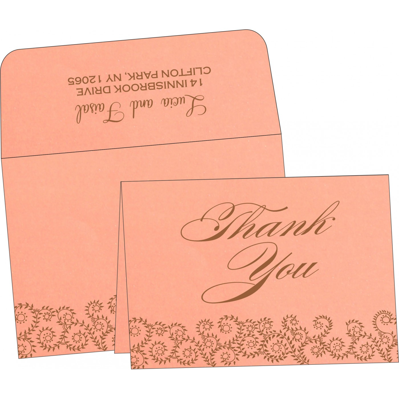 Thank You Cards : CTYC-8217N - IndianWeddingCards