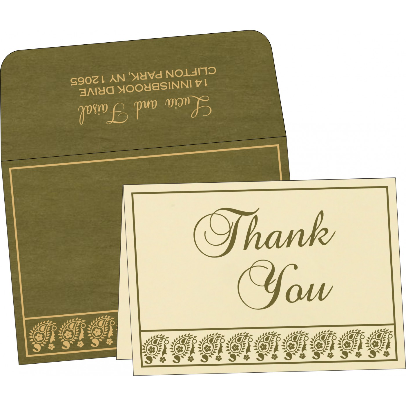 Thank You Cards : CTYC-8218A - IndianWeddingCards