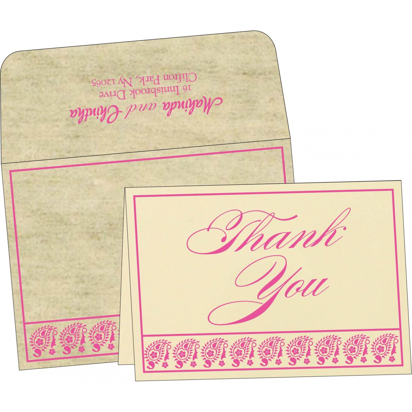 Thank You Cards : CTYC-8218F - IndianWeddingCards