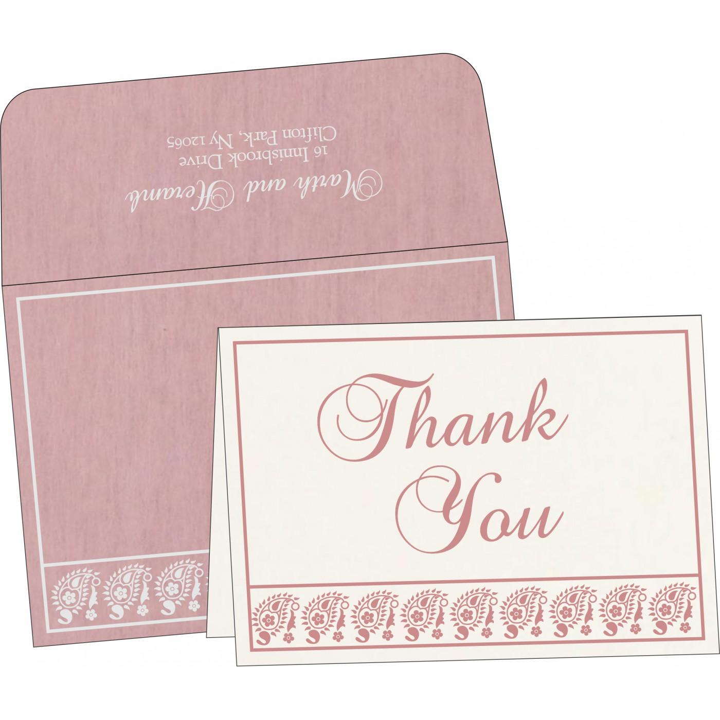 Thank You Cards : CTYC-8218J - IndianWeddingCards