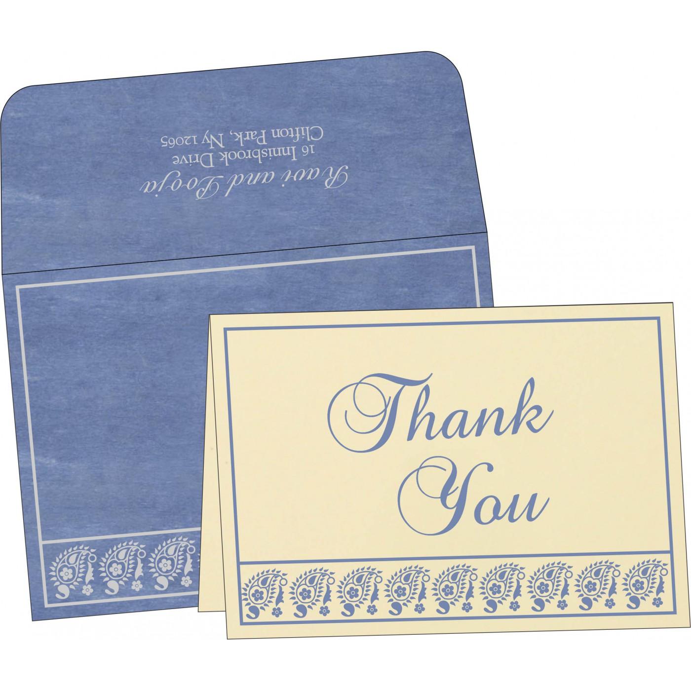 Thank You Cards : CTYC-8218K - IndianWeddingCards