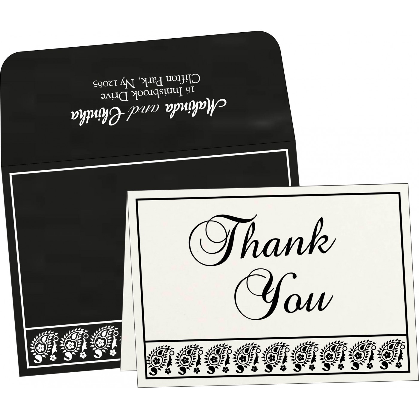 Thank You Cards : CTYC-8218L - IndianWeddingCards