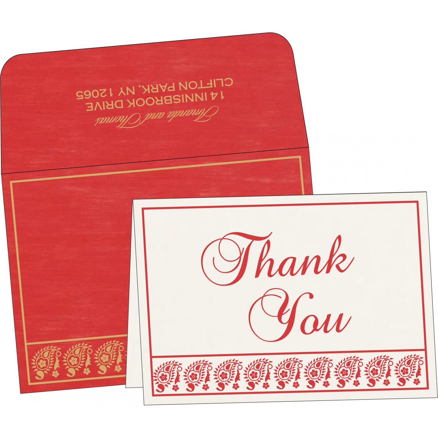 Thank You Cards : CTYC-8218M - IndianWeddingCards