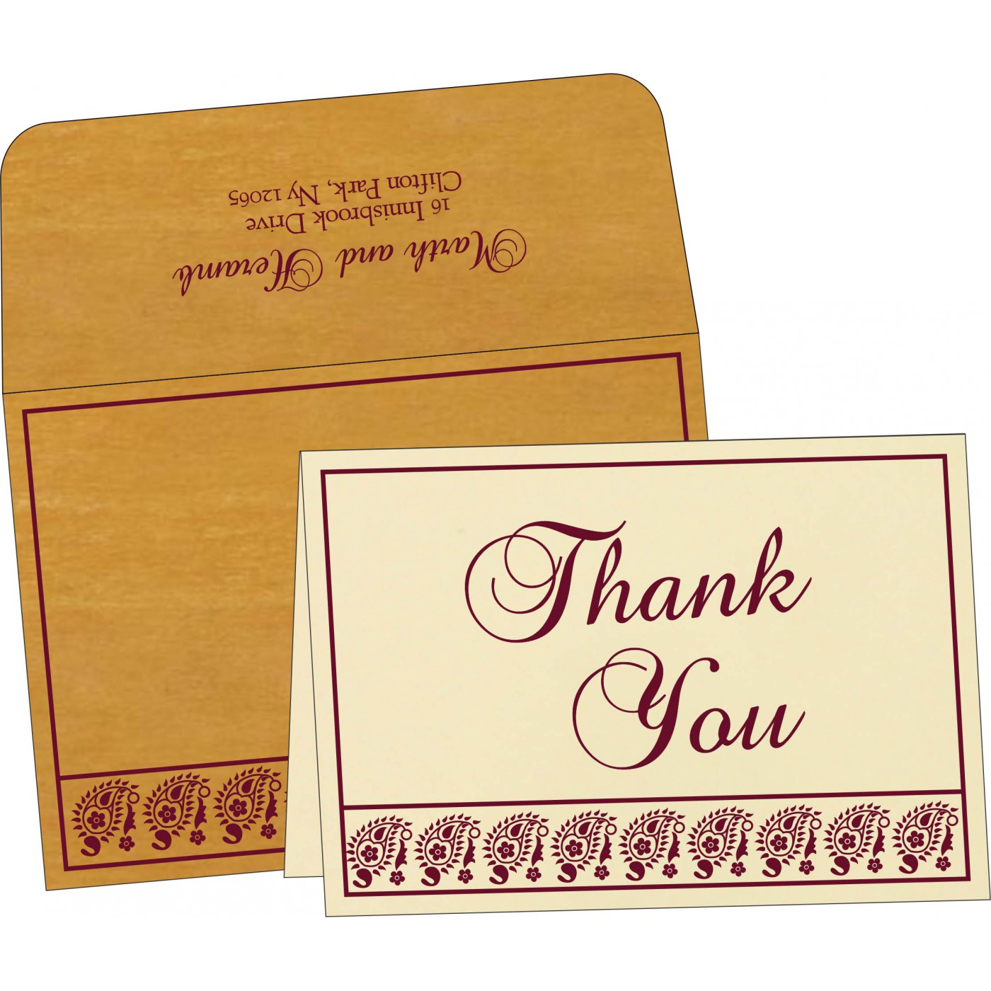 Thank You Cards : CTYC-8218N - IndianWeddingCards