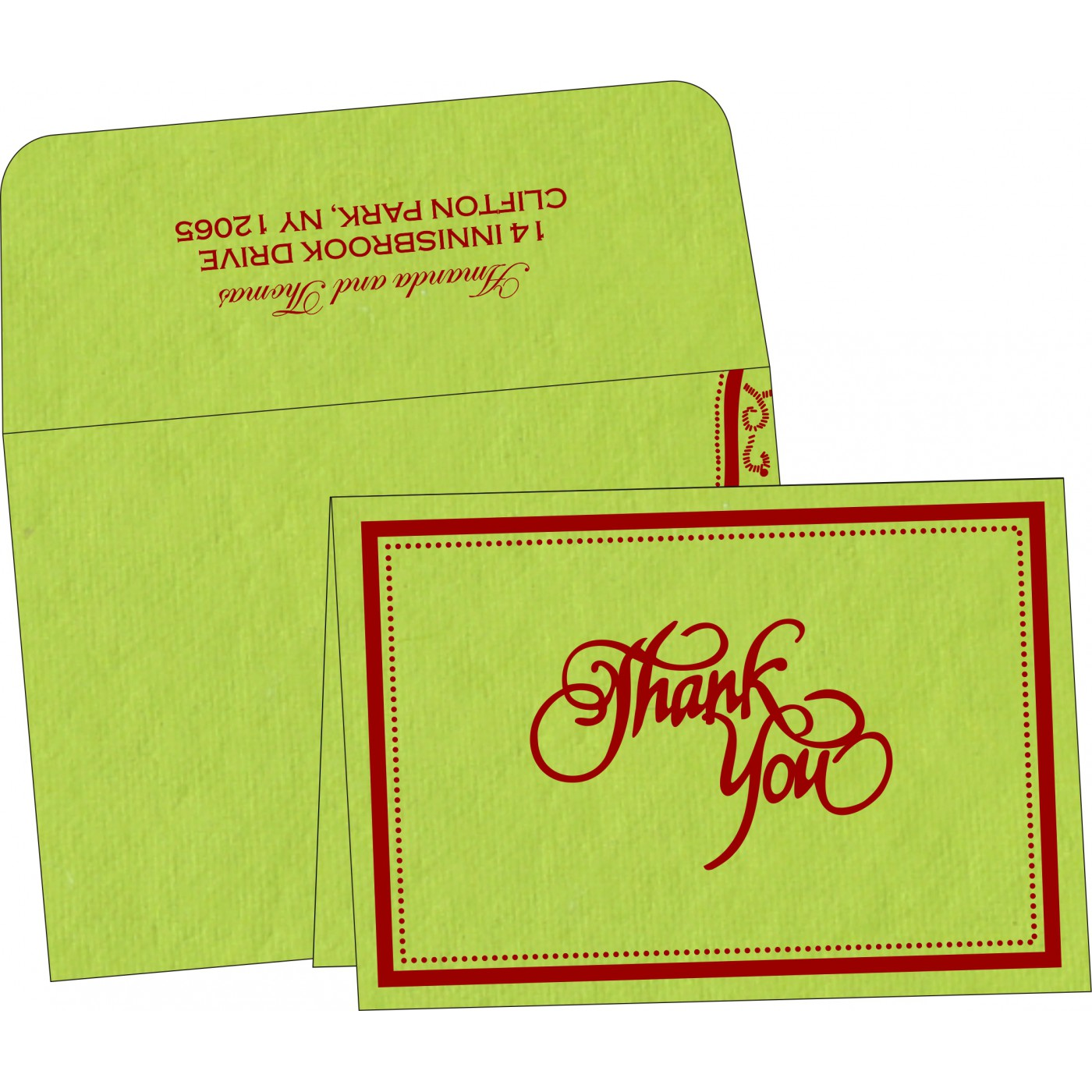 Thank You Cards : CTYC-8219A