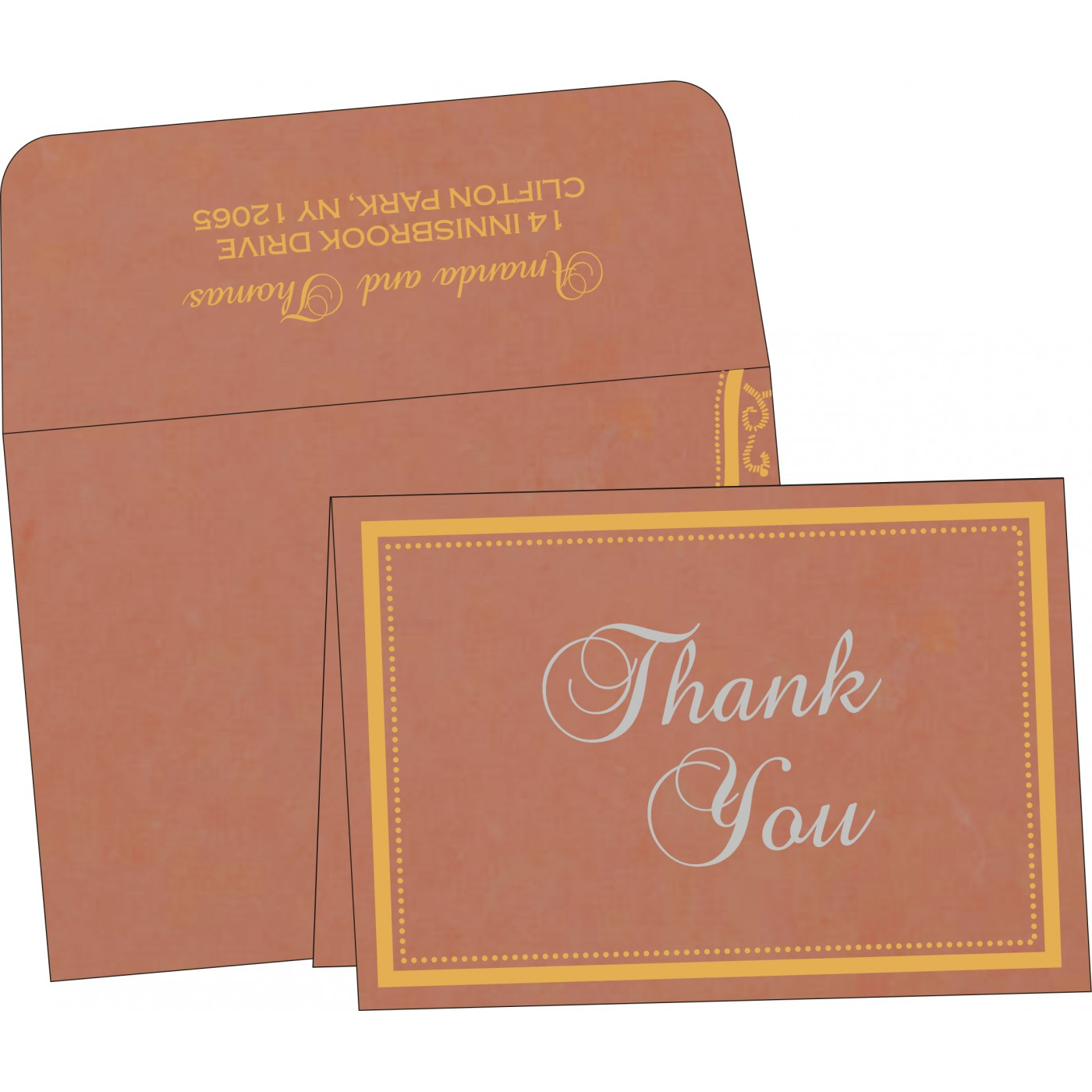 Thank You Cards : CTYC-8219M - IndianWeddingCards