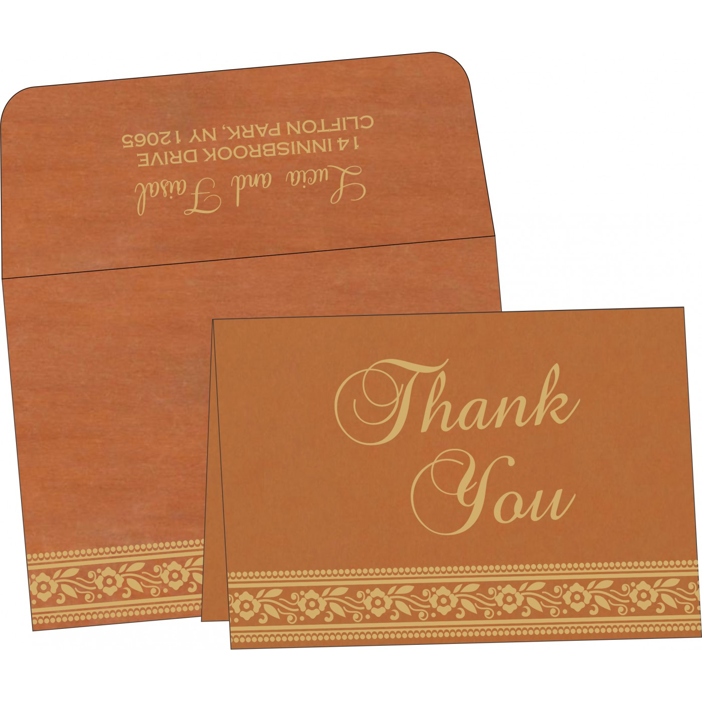 Thank You Cards : CTYC-8220C - IndianWeddingCards