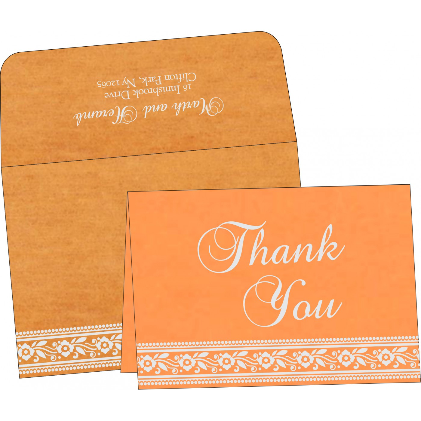 Thank You Cards : CTYC-8220F - IndianWeddingCards