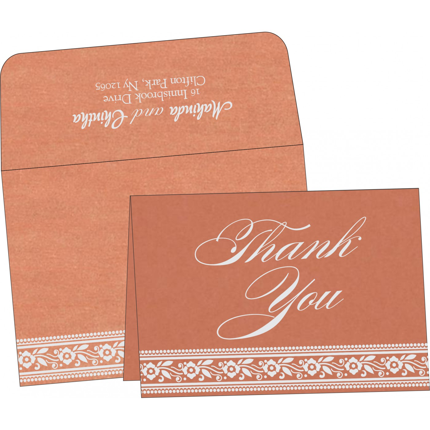 Thank You Cards : CTYC-8220H - IndianWeddingCards