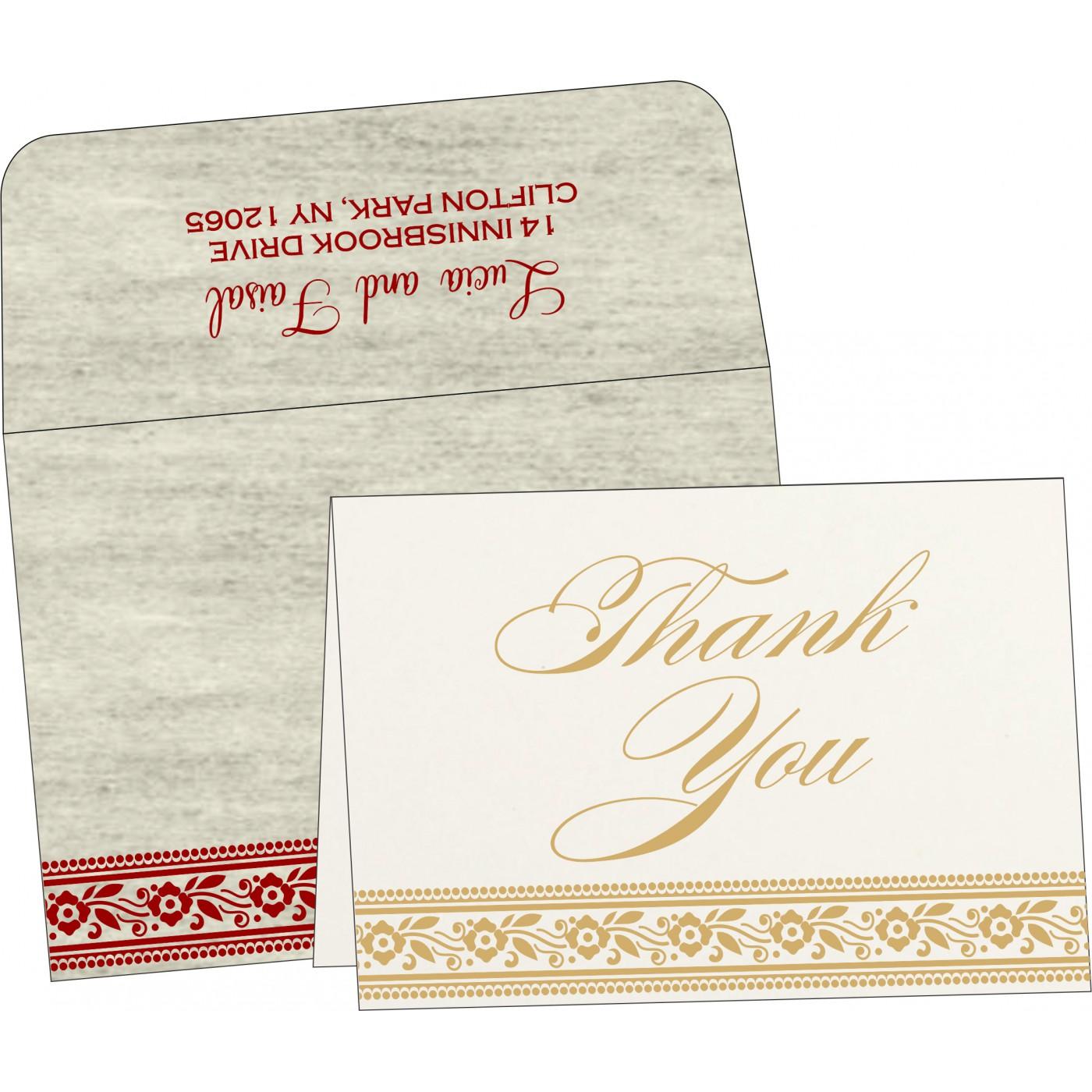 Thank You Cards : CTYC-8220I - IndianWeddingCards