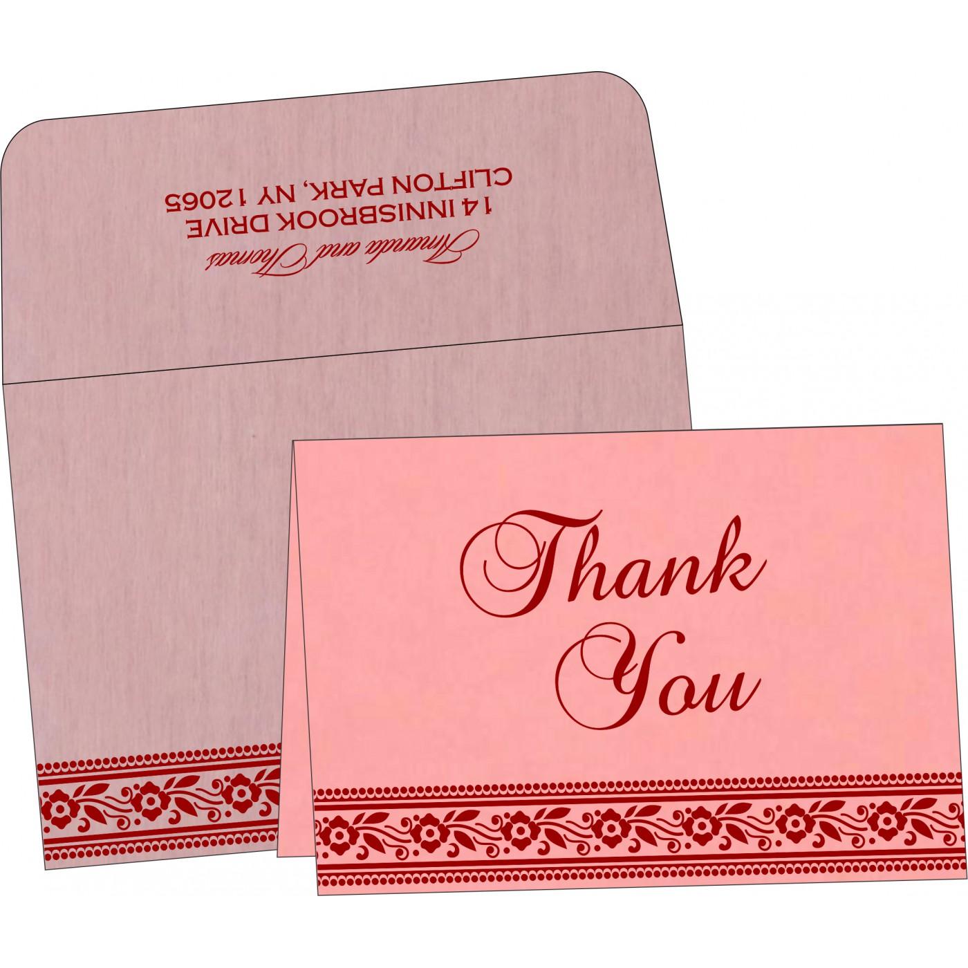 Thank You Cards : CTYC-8220J - IndianWeddingCards