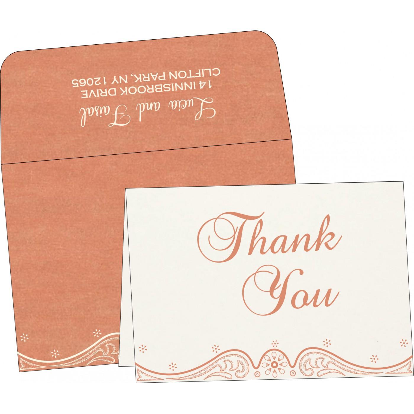 Thank You Cards : CTYC-8221B - IndianWeddingCards