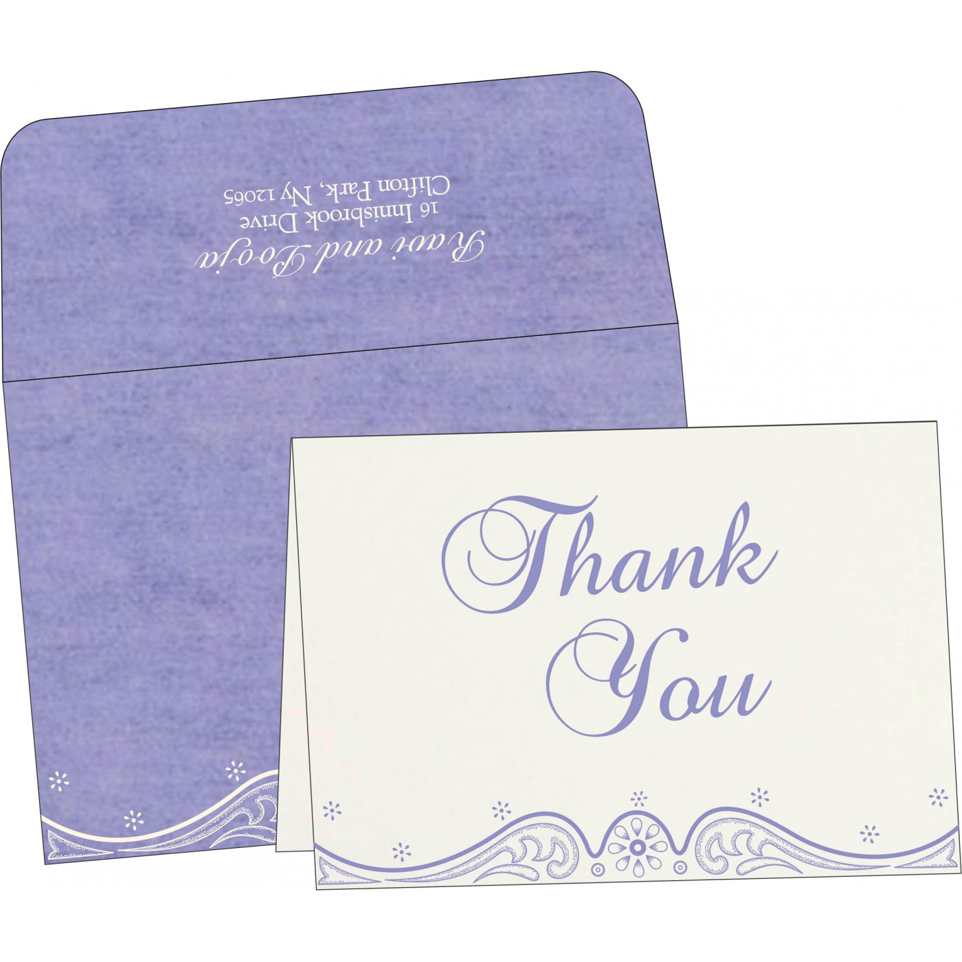 Thank You Cards : CTYC-8221E - IndianWeddingCards