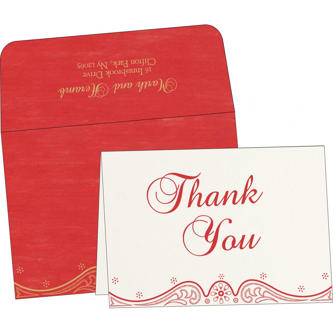 Thank You Cards : CTYC-8221J - IndianWeddingCards