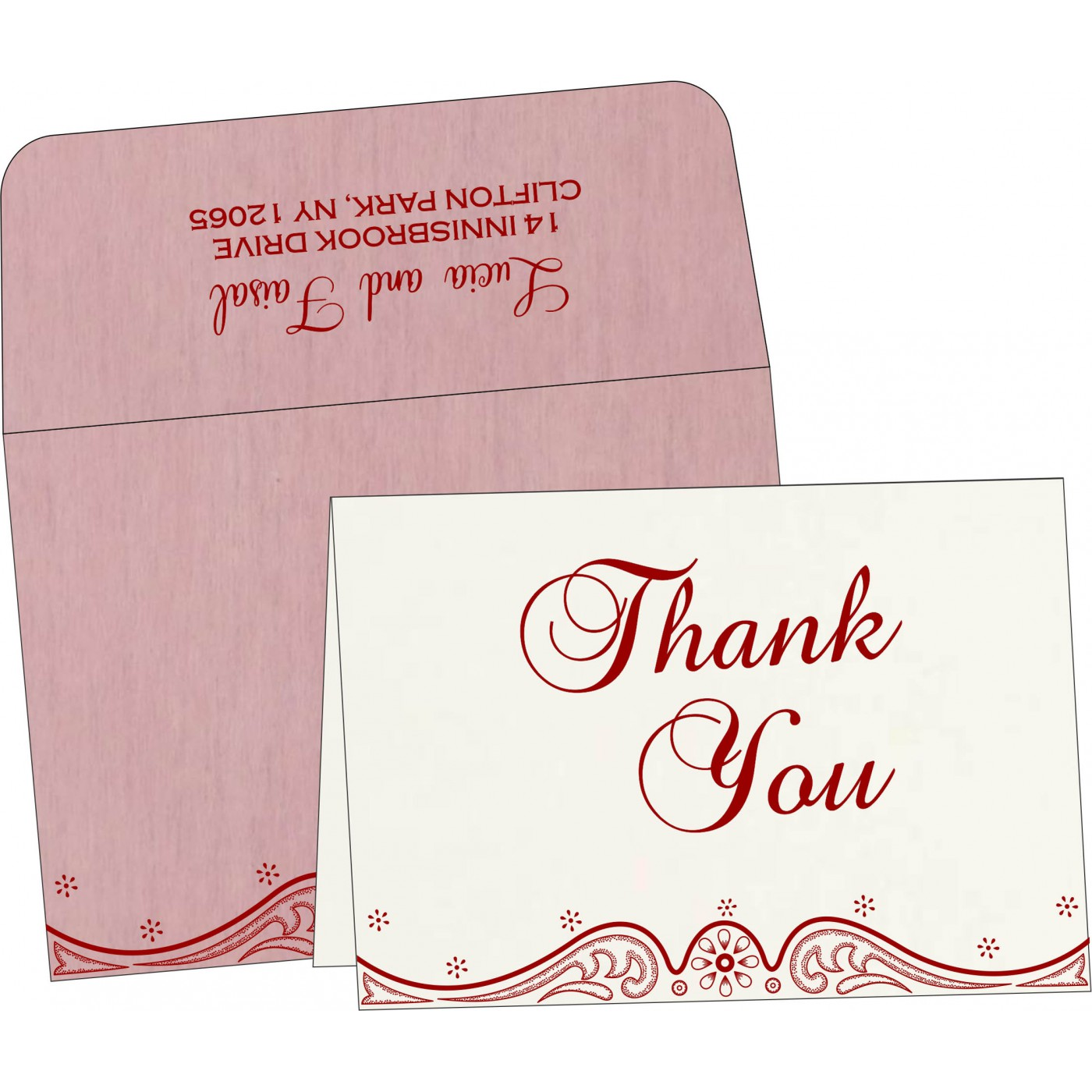 Thank You Cards : CTYC-8221M - IndianWeddingCards