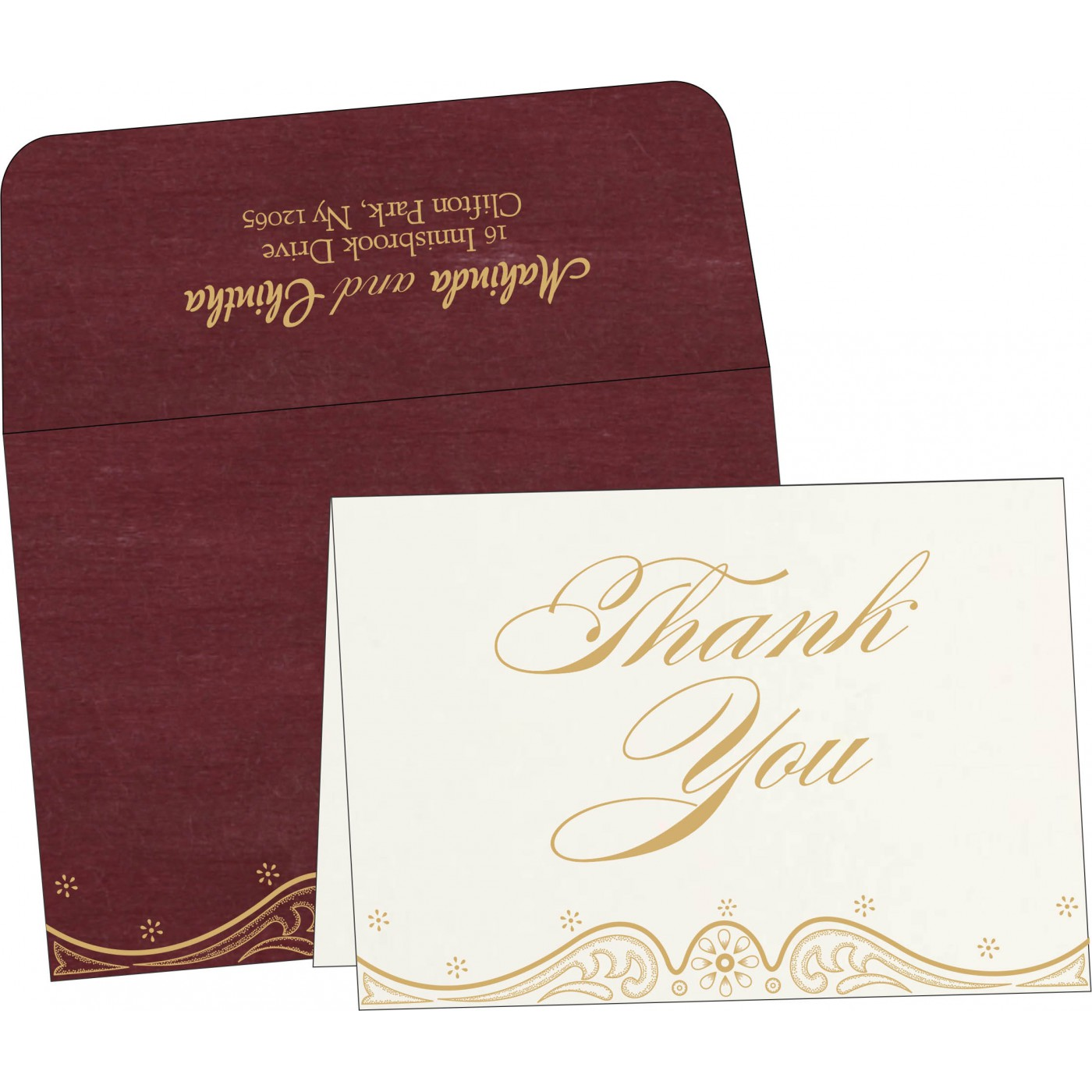 Thank You Cards : CTYC-8221P - IndianWeddingCards