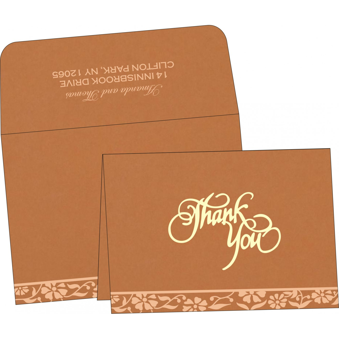 Thank You Cards : CTYC-8222H - IndianWeddingCards