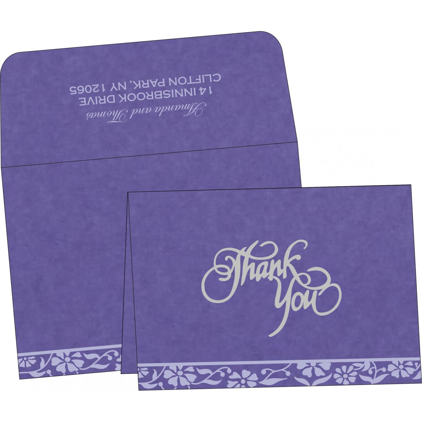 Thank You Cards : CTYC-8222O - IndianWeddingCards