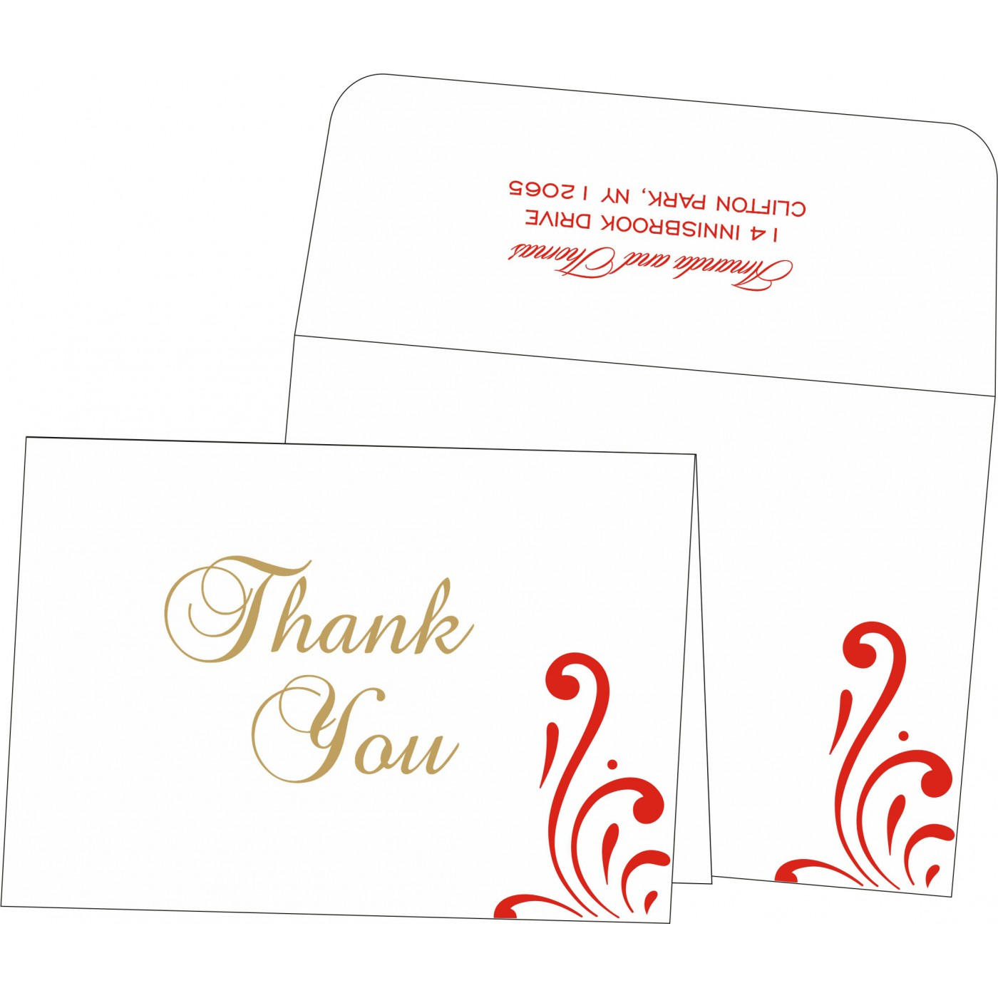 Thank You Cards : CTYC-8223C