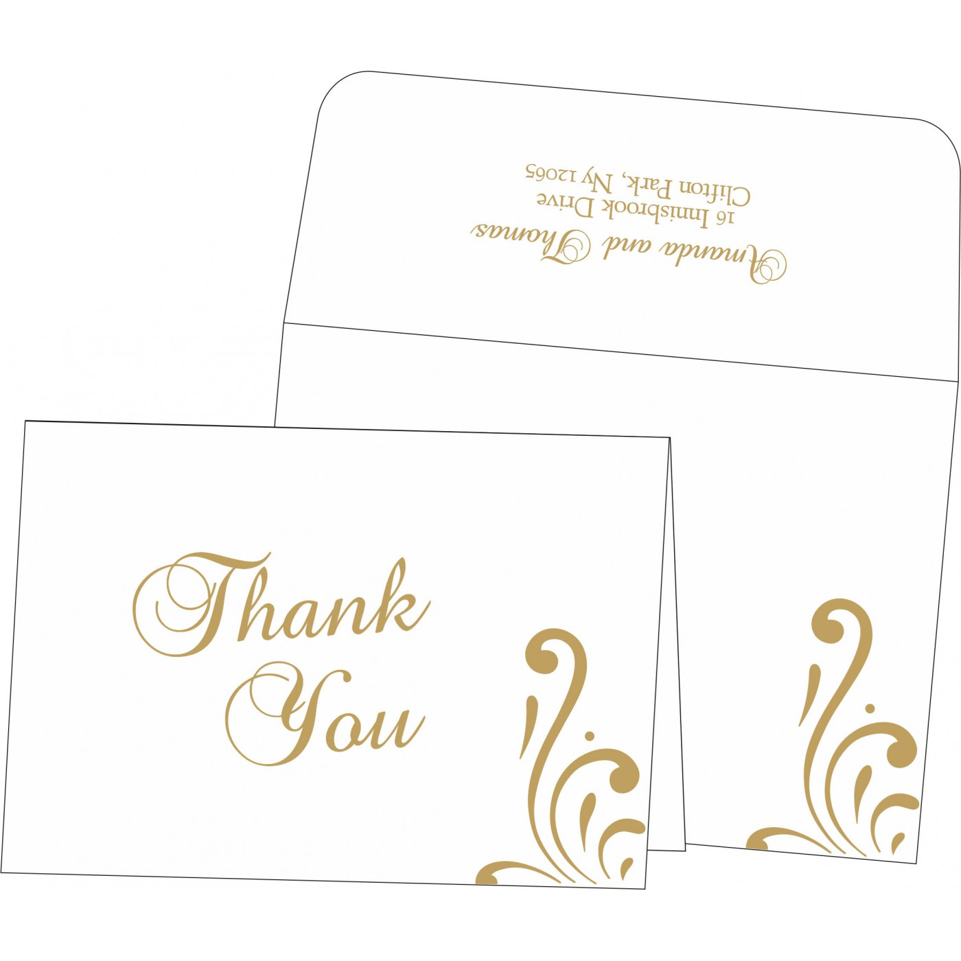 Thank You Cards : CTYC-8223D - IndianWeddingCards