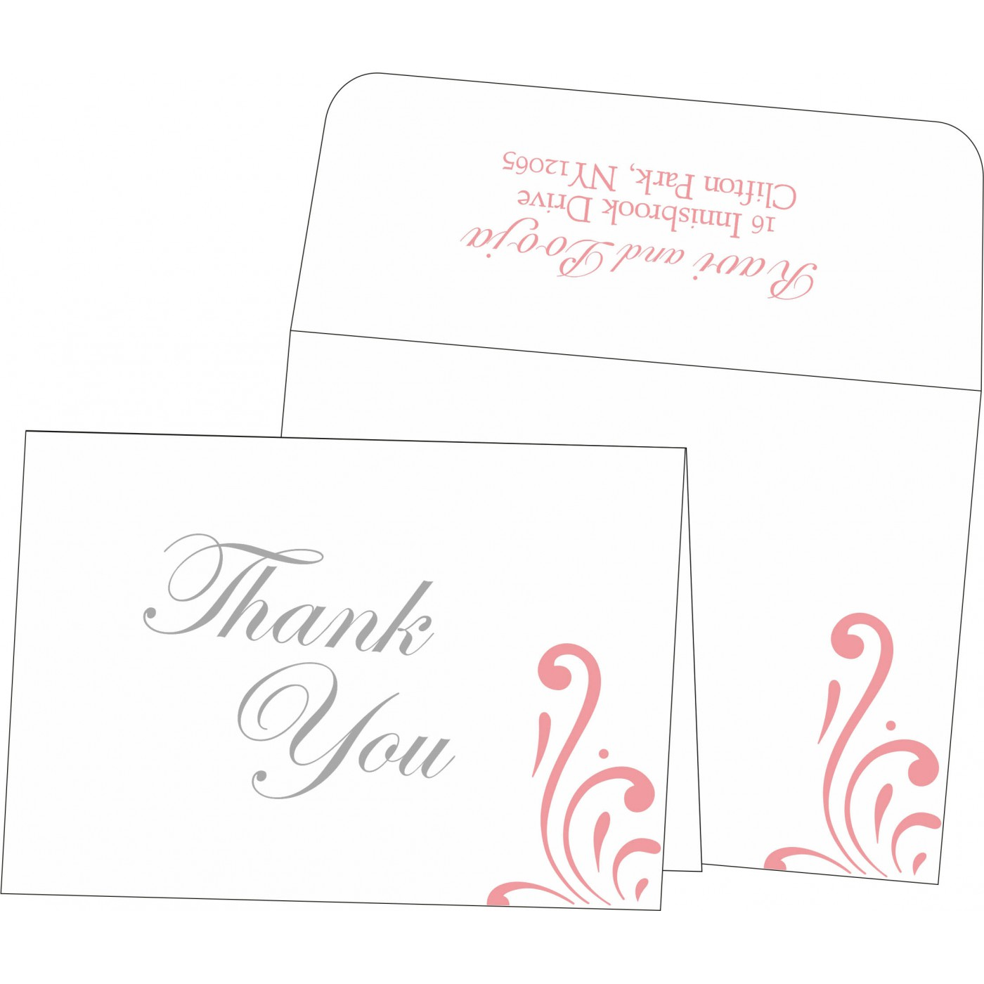 Thank You Cards : CTYC-8223E - IndianWeddingCards