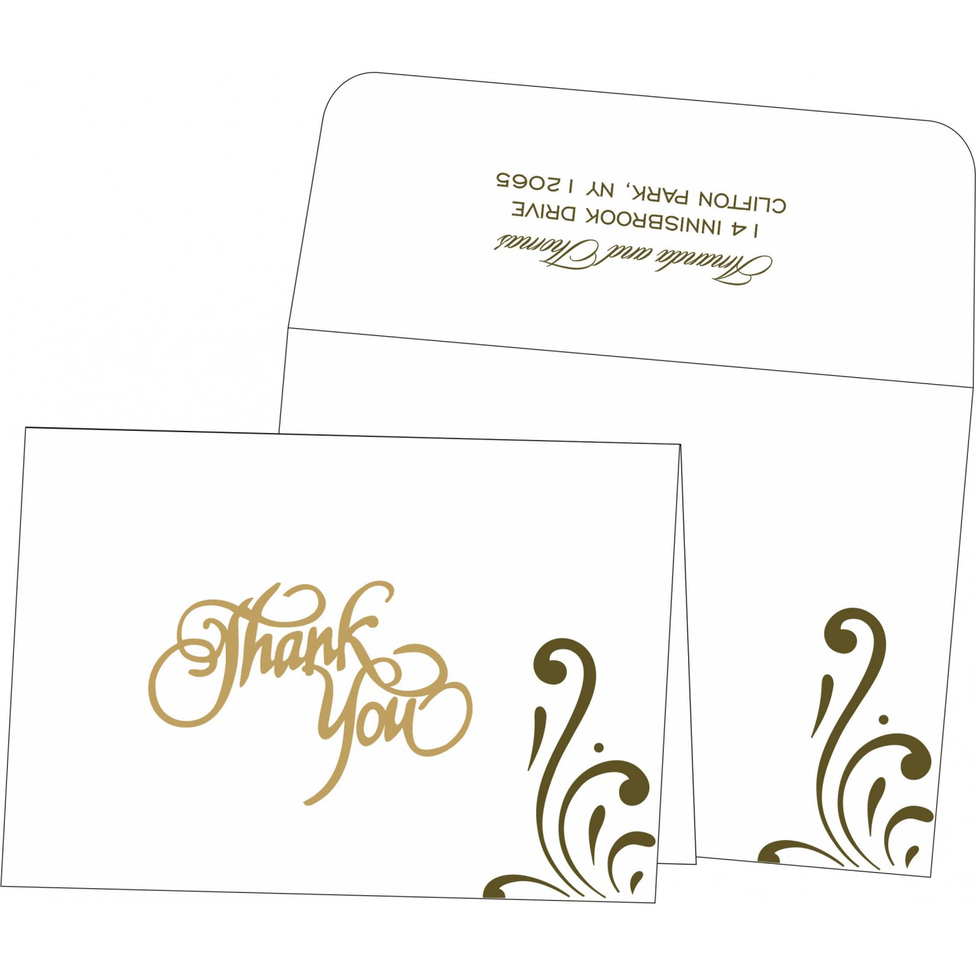Thank You Cards : CTYC 8223I