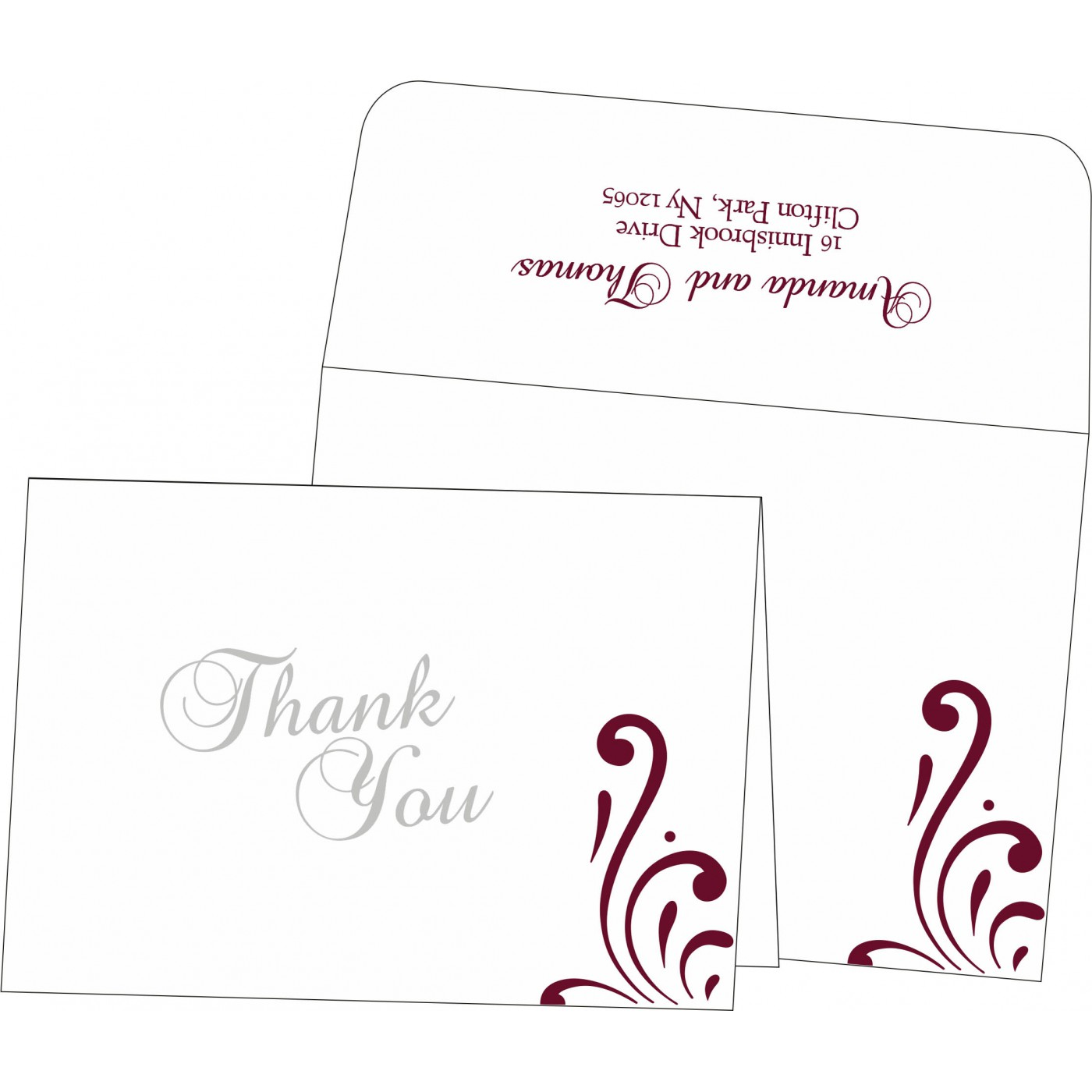 Thank You Cards : CTYC-8223J - IndianWeddingCards