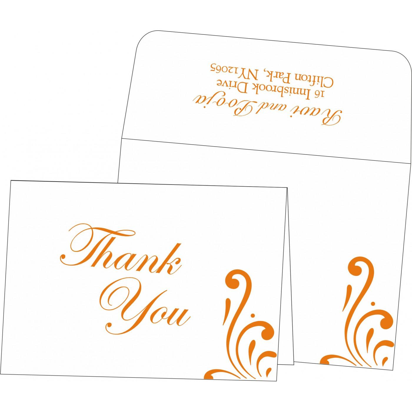 Thank You Cards : CTYC-8223K - IndianWeddingCards