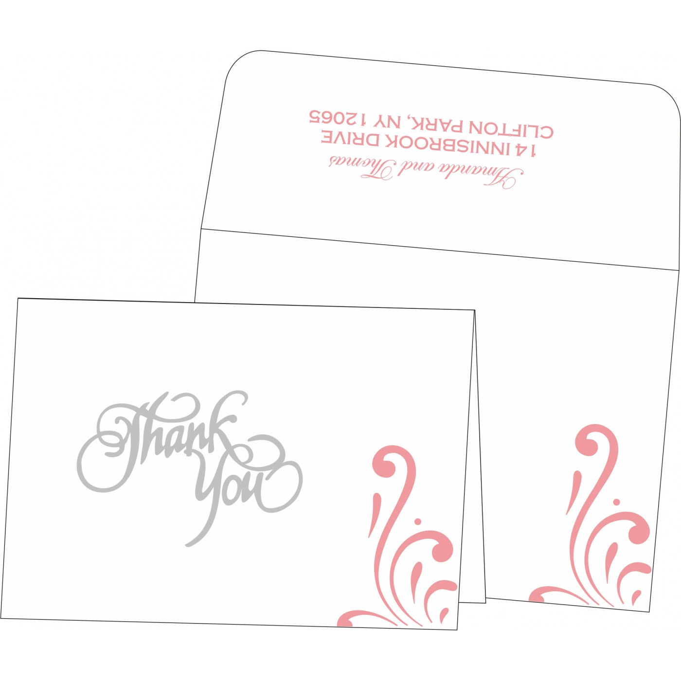 Thank You Cards : CTYC-8223N - IndianWeddingCards